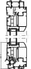 Probaie - Coupe verticale porte fenêtre OV